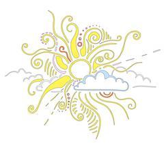 Sun rays ornament Stock Illustration