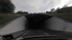 Driving Into Dark Tunnel Stock Footage