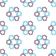 Seamless Colorful Abstract Pattern from Repetitive Hexagons - stock illustration