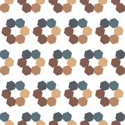 Seamless Colorful Abstract Pattern from Repetitive Hexagons Stock Illustration