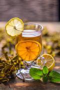 Cup of mistletoe tea Stock Photos