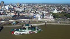 Aerial view of New Orleans, Louisiana Stock Footage
