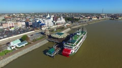 Aerial view of New Orleans, Louisiana - stock footage