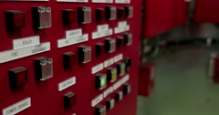 Local fire fighting system control panel Stock Footage