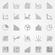 Stock Illustration of Statistics icons set