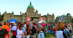 4K Parliament Buildings on July 1st, Canada Day in Victoria BC Stock Footage