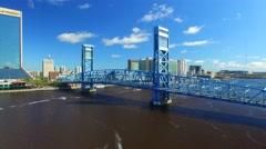 Jacksonville skyline, Florida Stock Footage