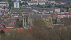 Bar le Duc : medieval country town in France - panoramic view - Zoom out Stock Footage