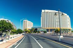 Beautiful skyline of Brickell Key, Miami - FL Stock Photos