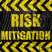 Risk mitigation sign - stock illustration