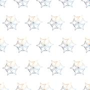 Seamless Colorful Abstract Pattern from Repetitive Stars - stock illustration