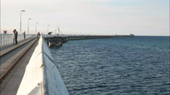 Busselton jetty railing Stock Footage