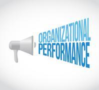 Stock Illustration of organizational performance megaphone sign concept