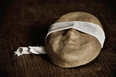 mask with a blindfold - stock photo