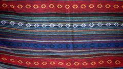 Colorful indigo cloth textile Stock Photos