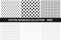 Simple dotted patterns. Seamless. Stock Illustration