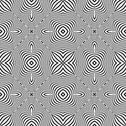 Optical art abstract striped seamless deco pattern. Stock Illustration
