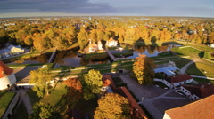 Beautiful landscape shot of the castle in Kuressaare Stock Footage