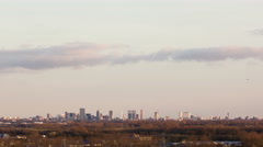 Rotterdam Skyline Sunset Time-lapse Stock Footage