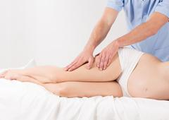Stock Photo of Relief for heavy legs