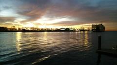 Sunrise @ Port of Los Angeles - TimeLapse Stock Footage