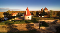 One of the towers of Kuressaare castle Stock Footage