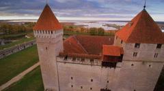 The brick walls of the Kuressaare castle - stock footage