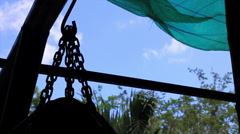 Time Lapse Silhouette Muay Thai Heavy Bag Chain Rig Gym Stock Footage