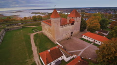One of the tourists spots in Saaremaa Estonia Stock Footage