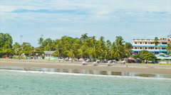 Puntarenas Costa Rica Beachfront Stock Footage