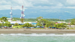 Local Beach in Puntarenas Costa Rica Stock Footage