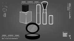 Nailpolish - Comestic - Analysis - grey 01 Stock Footage
