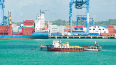 Colon Panama Container Shipping Port Scene Stock Footage