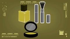 Nailpolish - Comestic - Analysis - yellow Stock Footage