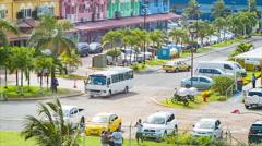 Colon Panama Vibrant City Street Scene Close-up - stock footage