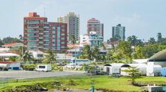 Colon Panama Residential Buildings Stock Footage