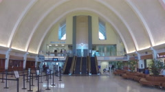New Orleans International Airport Main Terminal Building Interior Stock Footage