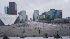 Paris, France, Timelapse  - Daytime in the financial District Stock Footage