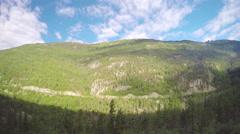 White Pass Mountains between Skagway Alaska and Whitehorse Yukon Canada Stock Footage