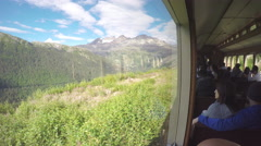 White Pass and Yukon Route Scenery from Big Train Windows Stock Footage