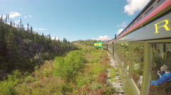 White Pass and Yukon Route Railroad Train Scenic Summer Trip Stock Footage