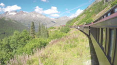 White Pass and Yukon Route Railroad Train Ride Scenery Stock Footage