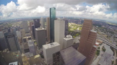 Downtown Houston Texas Buildings seen from JPMorgan Chase Tower Stock Footage