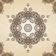 Stock Illustration of Filigree Henna Pattern