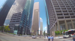 Houston TX City Street Level Action Stock Footage