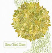 Letterleaf Autumn Tree - stock illustration