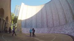 Houston TX Inside Waterwall Wide Shot Stock Footage