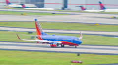 Southwest Airlines Boeing 737 Landing in Atlanta - stock footage
