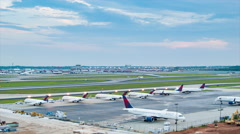 Atlanta Airport Wide Airfield Timelapse - stock footage