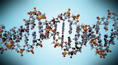 DNA molecule, vertical rotation, scientific variant Stock Footage